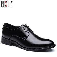 ROXDIA nam Giày cưới phân da công sở mũi nhọn cho người Đầm giày nam oxford đế RXM081 Kích thước 39 48