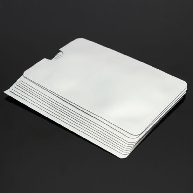 New 10pcs Credit Card Protector Secure Sleeves RFID Blocking ID Holder Foil Shield 88 XHC88