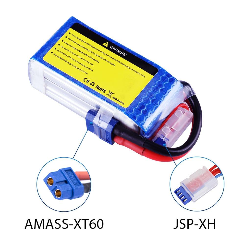 2 pièces LiPo Batteries SEASKY 11.1 V 1500 mAh 75C Max 120C pour RC hélicoptère Drone/voiture/bateau Quadrotor 3 S LiPo rechargeable - 4