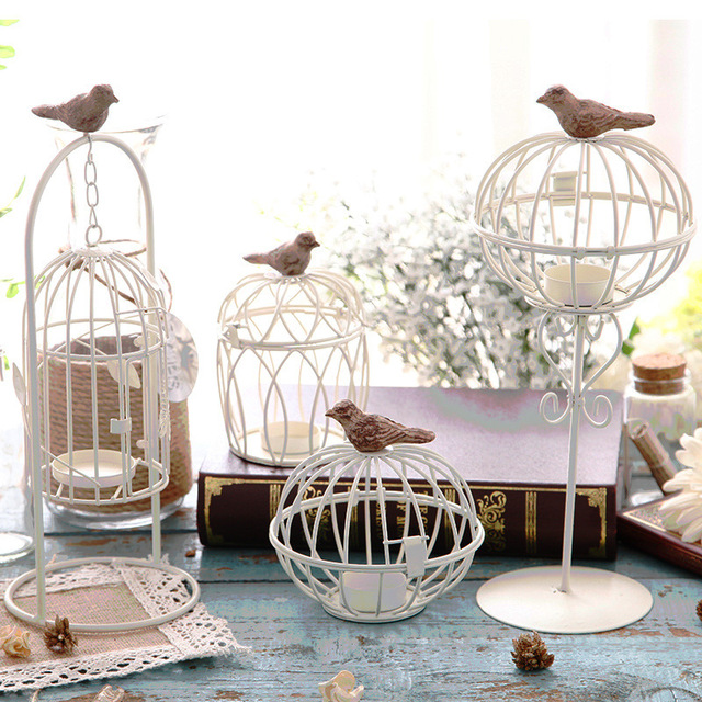 Hand Made Fashion Large Antique Decorative Bird Cages Clic Iron Birdcage For Wedding Decoration Free Shipping