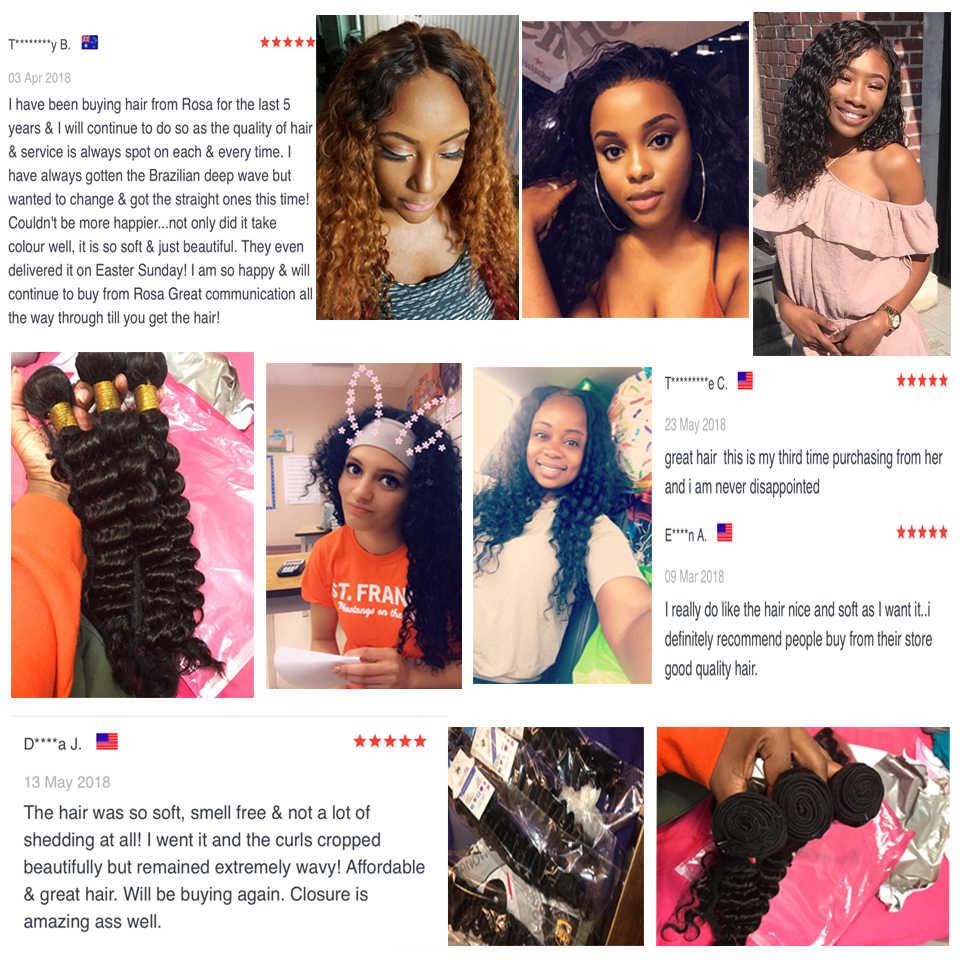 USEXY волос глубокая волна бразильские волосы категории virgin Комплект s 1/3/4 шт. бразильские Волосы remy Комплект предложения 100% человеческих волос ткать
