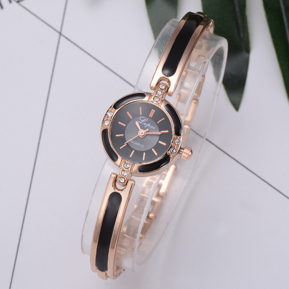 Bracelet Watch Clock Dress Rose-Gold Small Ladies Relogio Women Vogue-Style Feminino--A title=