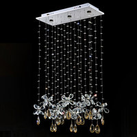 Modern Crystal Butterfly Pendant LED bedroom dining room lamp