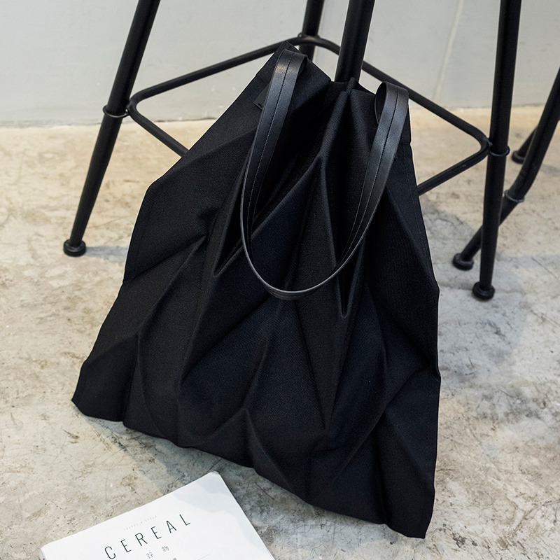 Niche Design Bag Female New Tote Bag Tote Bag Miyake Cooperation Origami Series Canvas Bag