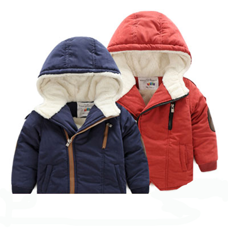 ФОТО winter jacket for boy parka coats children's winter jackets autumn winter hooded coat thick cotton warmer kids winter coat boy