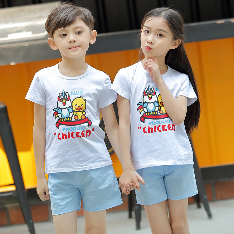 5ebb3af0fe5d 2018 Summer Family Wear Korean Fashion O Neck Cotton Short Sleeve T Shirts  + Shorts 2pcs Set Lovers Couple Cartoon T Shirts-in Matching Family Outfits  from ...