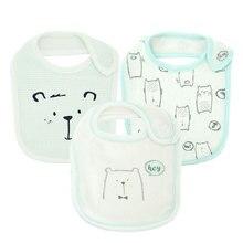 Kavkas детские нагрудники 3 шт./партия полотенце ткань нагрудник для маленьких мальчиков детские нагрудники и салфетки для отрыжки новорожденный детский обеденный аксессуары