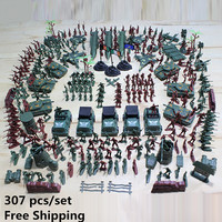 307pcs Set WWII Nostalgic Toy Soldier Military Man High Quality Plastic Military Suit Of Model Aircraft