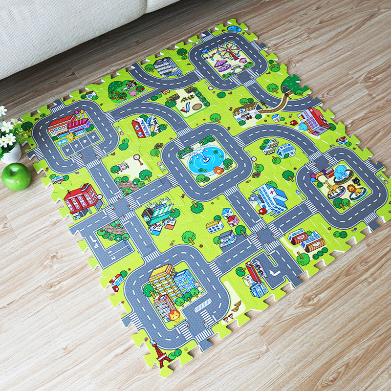 jcc cidade estrada eva espuma tapete de jogo do bebe tapee infantil tapis enfant quebra cabeca
