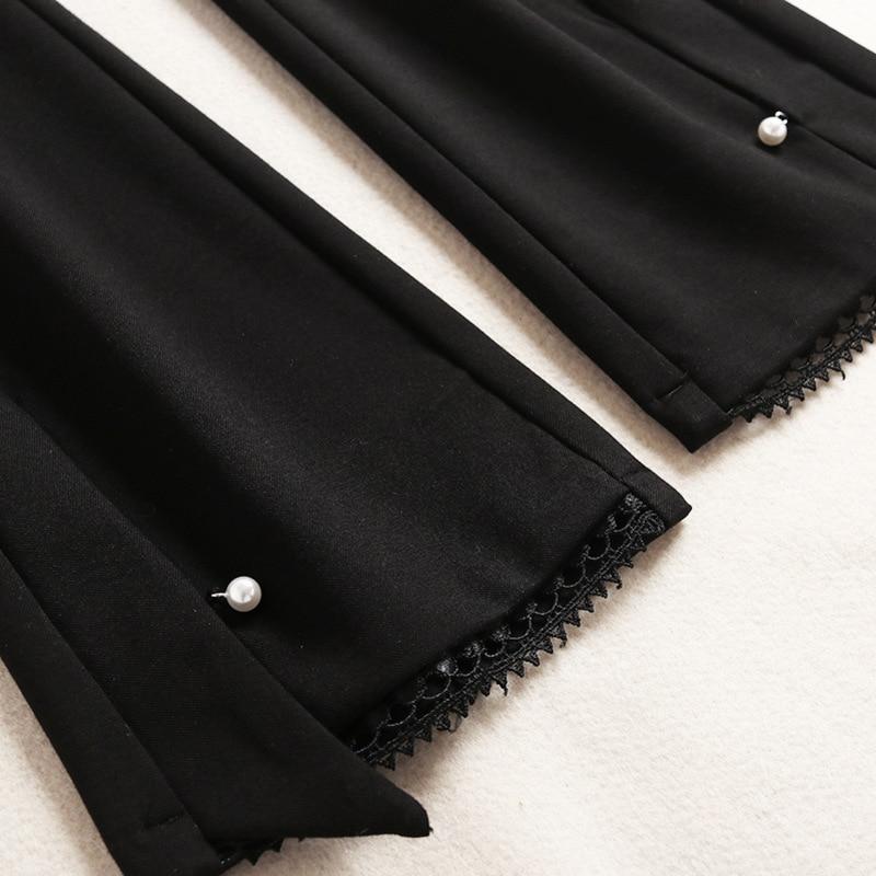 Bureau Hauts Stand See Pièces Ensemble Ruches Costumes 2 Printemps Blouse Chart En 2019 Femmes Géométrique Flare Pantalon Mousseline Soie Longues À Col Manches De Imprimé Pqg47wB