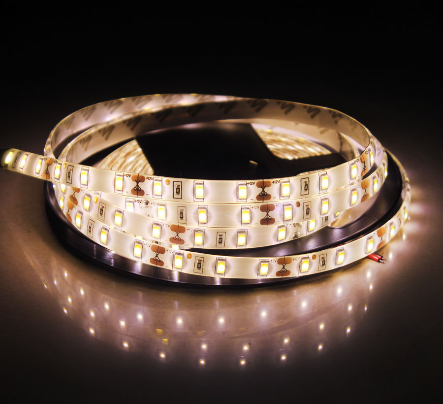 DC 12 V LED Strip SMD 5630 Not Waterproof DC 12V 60LEDs/m Warm White 5m LED Strip Flexible Light Tape Lamp Home Diode Ribbon wholesale 100sets lot led strip set smd 5630 60leds m flexible led light power adapter best quality