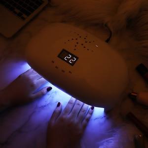 Image 5 - Aokitec Đèn UV Móng Tay 78W 2 Tay Led Gel Đèn Móng Cảm Biến Hồng Ngoại 4 Hẹn Giờ Máy Sấy Móng Tay 56 hạt LCD Móng Tay Đèn Làm Móng