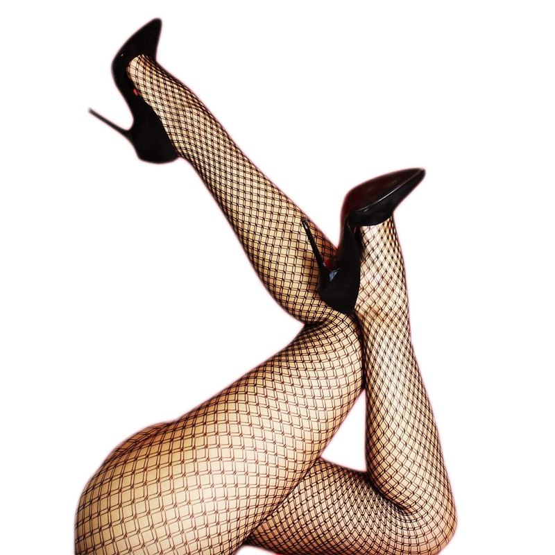 Women Sexy Black Fishnet Tights Pantyhose Fishnet Stockings Club Party Hosiery Flat Crotch Plus Size
