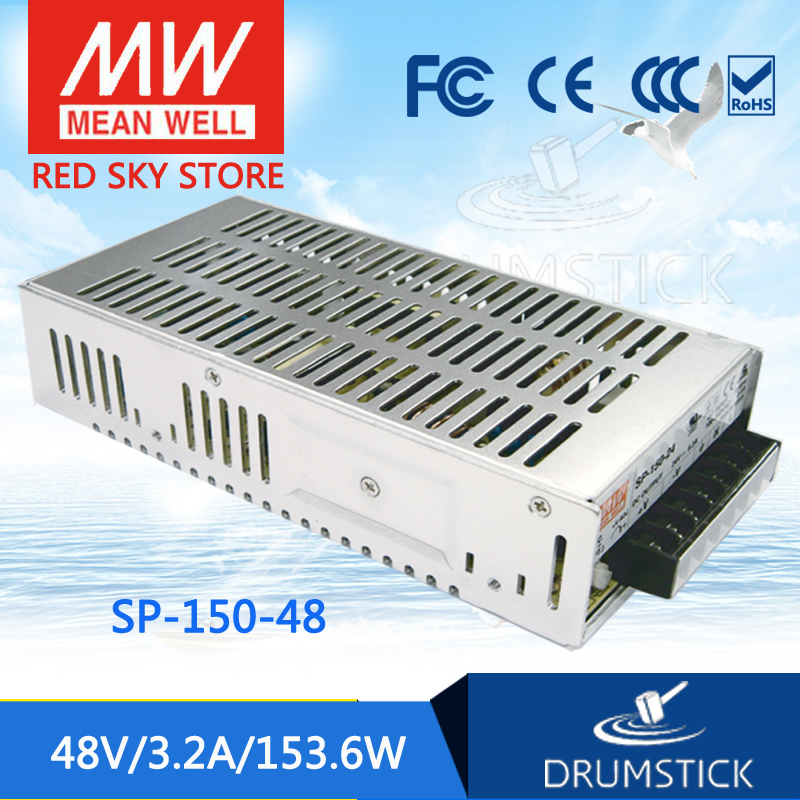 Hot sale MEAN WELL SP-150-48 48V 3.2A meanwell SP-150 48V 153.6W Single Output with PFC Function Power Supply mean well usp 150 48 48v 3 2a meanwell usp 150 48v 153 6w u bracket with pfc function power supply