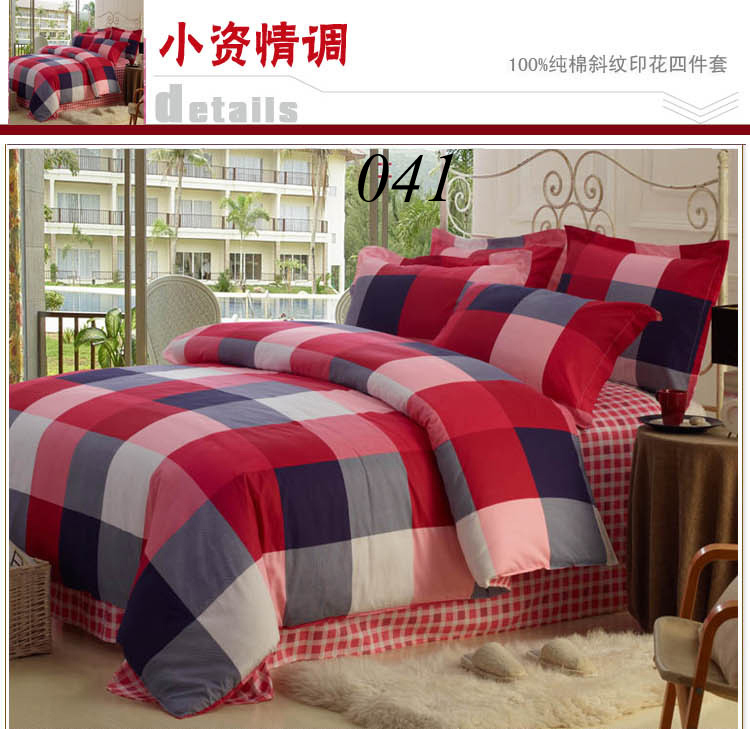 Red And Grey Plaid Bedding Www Pixshark Com Images