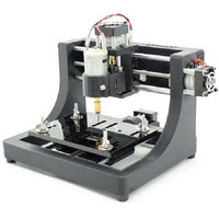 Durable 1208 3 axis Mini DIY CNC Router Wood Carving PCB Milling Engraving Machine Engraver 120x80x16mm