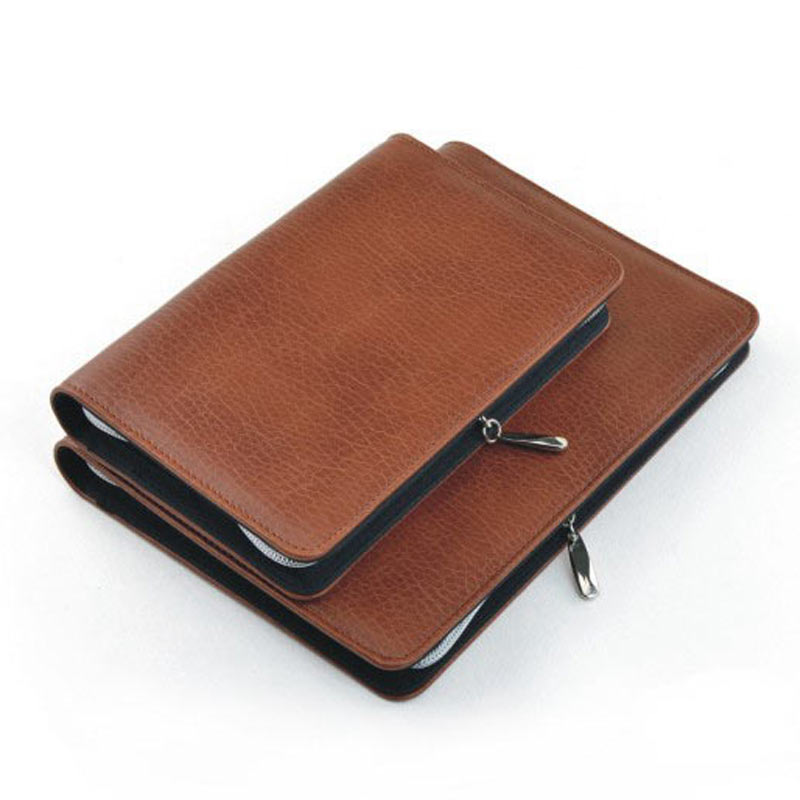 Image 4 - Logo Customized A5 & A6 Business Zip Bag Faux Leathe Planner Leather Notebook With Calculator Or Memo Pad For You To Choose-in Notebooks from Office & School Supplies