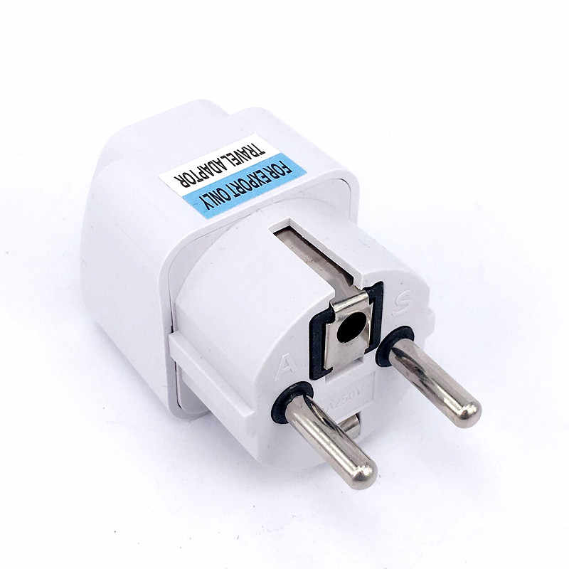 1 Pcs Universele Eu Plug Adapter International Au Uk Vs Naar Eu Euro Kr Travel Adapter Stekker Converter Power socket