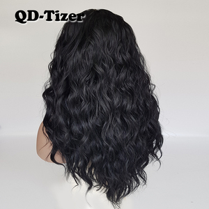 Image 3 - QD Tizer Loose Wave Black Color Wigs Baby Hair Glueless Synthetic Lace Front Wig High Density Hair Wig for Black Women
