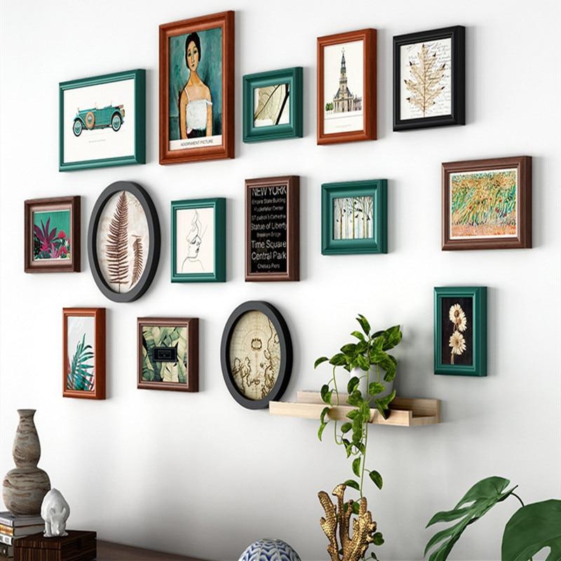 вариегатные деревянные рамки для фотографий на стену могут выполнять различные