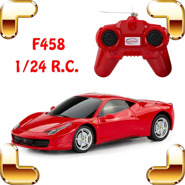 F458 1/24 RC Carro do Presente Do Ano novo Clássico Roadster Pequeno Brinquedo de Controle de Rádio Carro de Corrida de Velocidade de Acionamento Elétrico Divertido