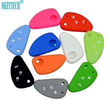 OkeyTech Car flip key cover For Alfa Key 147 156 Silicone Rubber case For Alfa Romeo Mito Giulietta 159 GTA 166 GT JTD TS shell