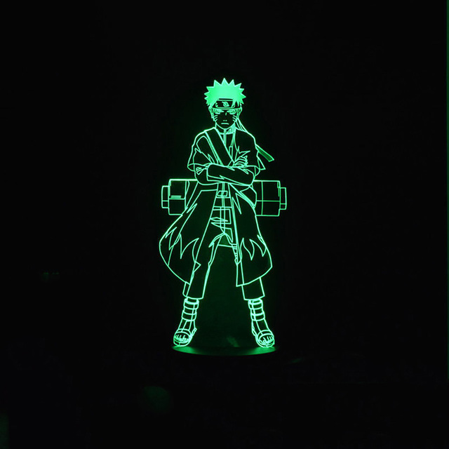 3D Led Visual Naruto Modelling Figure Night Light