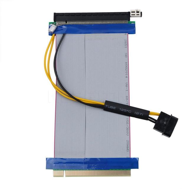 kebidu 16X to 16X Molex Power PCI-E Riser Extension Cable PCI Express Riser Card Adapter Converter for Bitcoin Miner 5