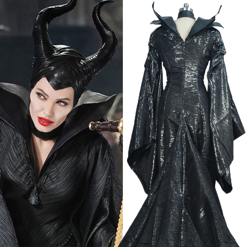 Us 130 29 11 Off Maleficent Costumes Custom Made Dark Witch Maleficent Adult Women Halloween Party Cosplay Costume Maleficent Dress In Movie Tv