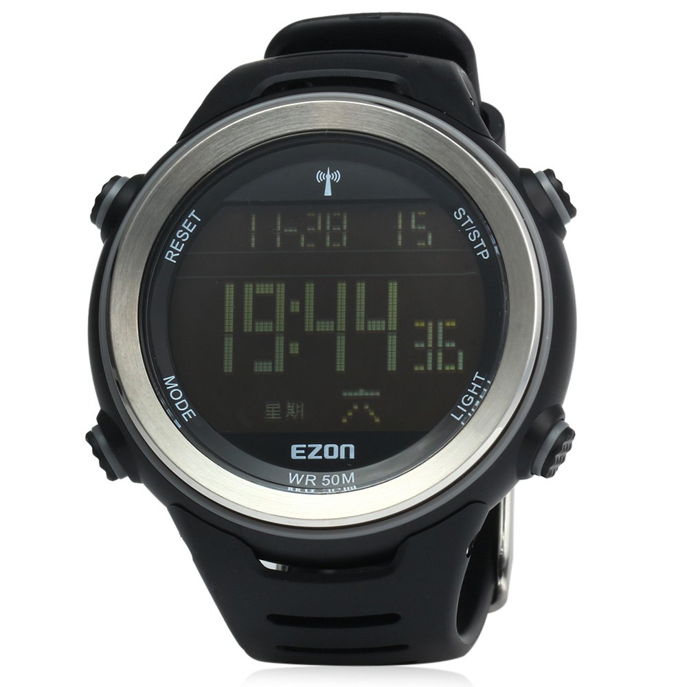 EZON L002 Radio Wave Calibrate Time Digital Men Sports