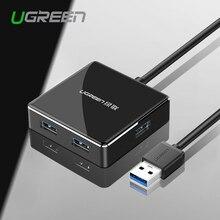 Ugreen usb 3.0 hub 4 порта super speed usb-концентратор алюминий splitter с micro usb интерфейс питания для компьютера macbook air ноутбук