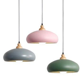 Kreatywny proste wisiorek światła z litego drewna salon sypialnia restauracja alejek oświetlenia sklep odzieżowy WF4191752