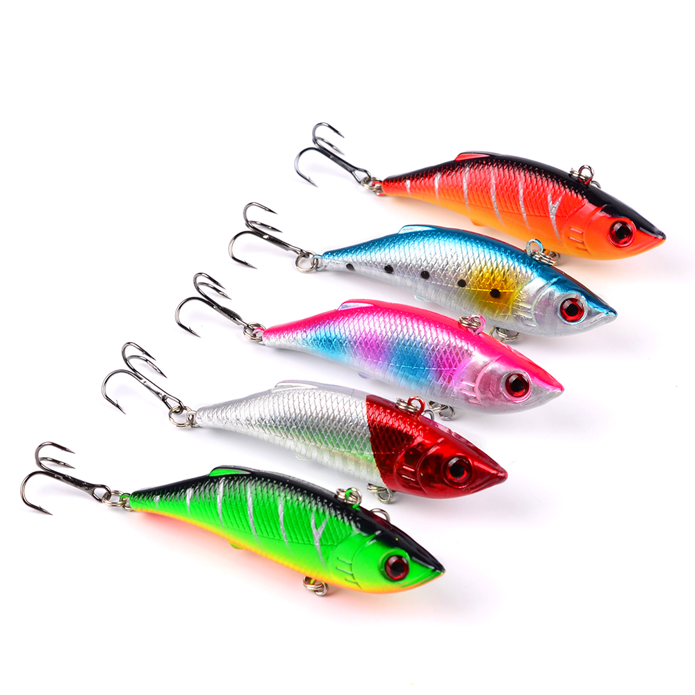 1pcs/lot 7.5cm 9.7g Sinking Fishing Lure VIB Isca Artificial Pesca Hard Bait Wobblers Bass Pike Crankbait Everything For Fishing