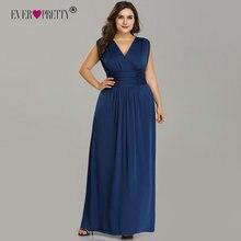 Plus Size Bridesmaid Dresses Ever Pretty EZ07661SB V-Neck Sl