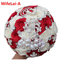 Drop Shipping Custom Stunning Wedding Bouquet Crystal Pearl Peacock Brooch Bouquet Bridal Bouquet ramos de novia No Missing W126