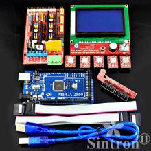 [Sintron] Kit de impresora 3D RAMPAS 1.4 + Mega 2560 R3 + LCD 12864 + 5 unids A4988 RepRap Mendel, Prusa i3, Koseel