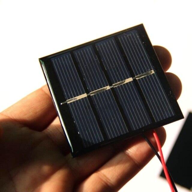 Attractive 1000 Pz/lotto 0.45 W 2 V Mini Pannello Solare + Cavo Diy
