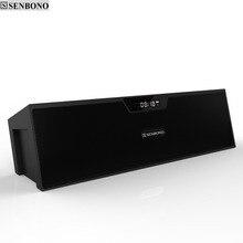 SENBONO SDY 019 MINI Di Động Bluetooth Không Dây Tích Mic Hỗ Trợ FM Đôi Loa 3.5MM Jack Cắm USB TF màn Hình LCD Hiển Thị