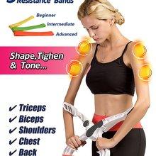 Тренажер для тренировки рук и верхней части тела, эспандер с 3 тренировочными полосками для женщин, укрепляющий бицепс