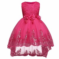 High Grade Girl Dress Princess Lace Sequin Dresses For Girls 3 12 Yrs Birthday Outfits Dresses