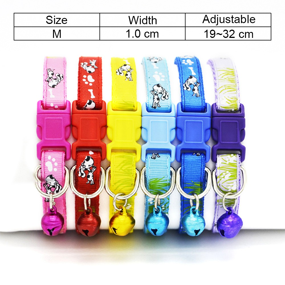 6 Cat Collar Breakaway Collar For Cats With Bell Cat Collars Adjustable Quick Release Puppy Collar Chihuahua Cat Leash Pet Product