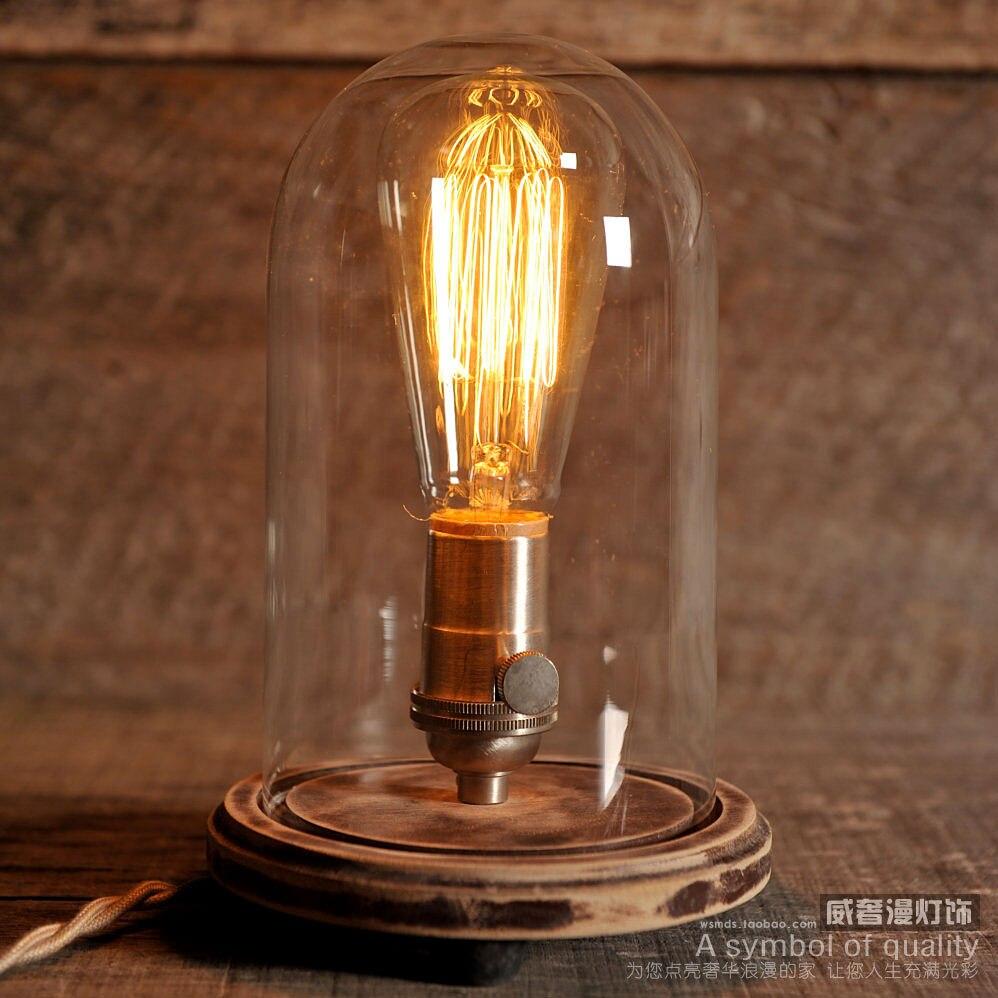 Edison Lamp Vintage Stolp Tafellamp Rustieke Industri 235 Le