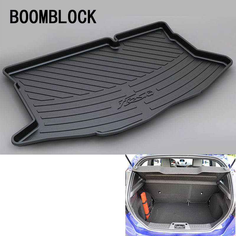 цена на For Ford Fiesta Hatchback Mk7 MK7.5 2009 2010 2011 2012 2013 2014 2015 2016 2017 Anti-slip Car Trunk Mat Tray Floor Carpet Pad