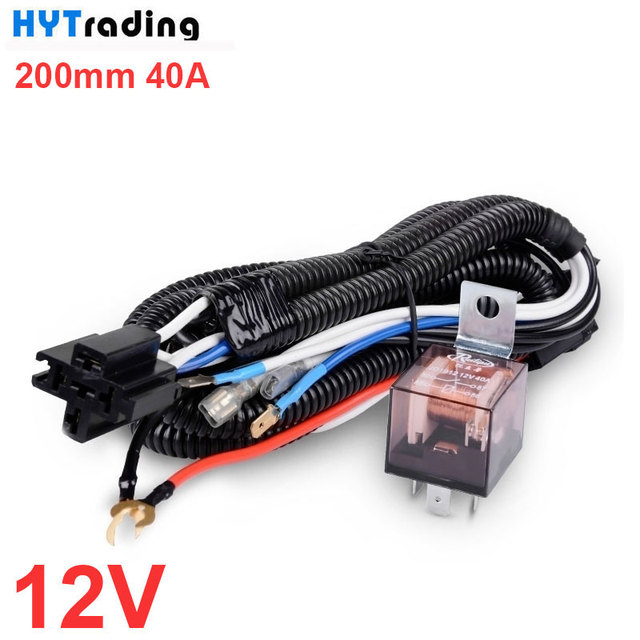 car klaxon universal hid battery horn relay harness 12v/24v 40a,car styling  high