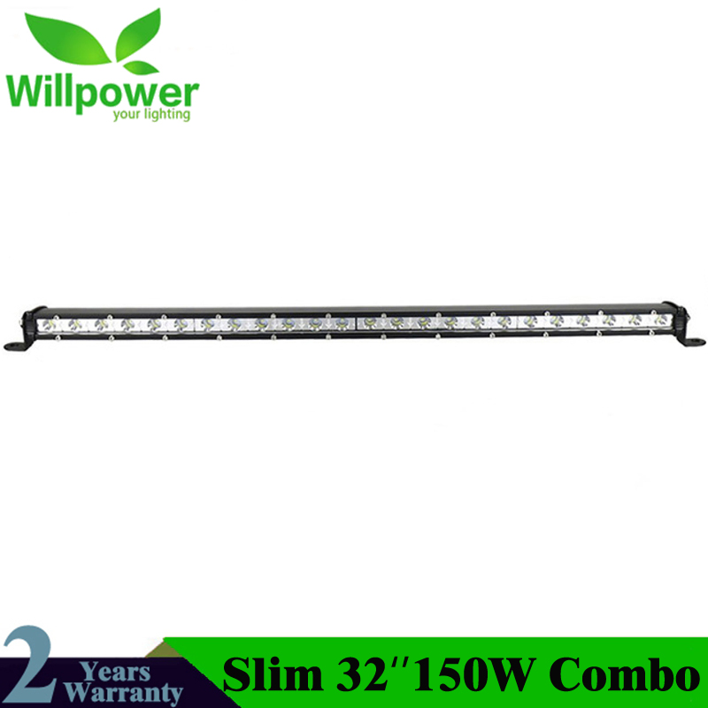 32inch Straight Led Light Bar 150W Single Row External Slim Waterproof Driving Lights Lamp For Truck