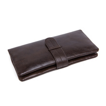 Men Leather Wallet Coin Purses Holders Male Wallet Cow Leather Business Men Long Wallets Fashion Densign Coffee Clutch Bags