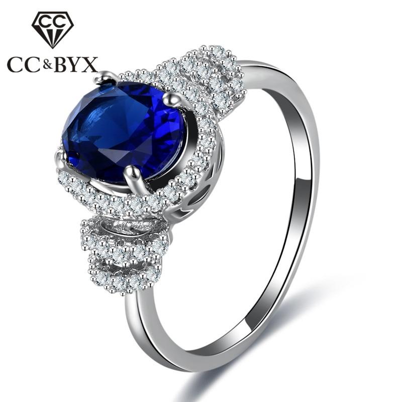 CC Винтаж Кольца для Для женщин голубой цвет Овальный Камень Обручение кольцо невесты свадебные украшения Bijoux Femme cincin wanita cc861