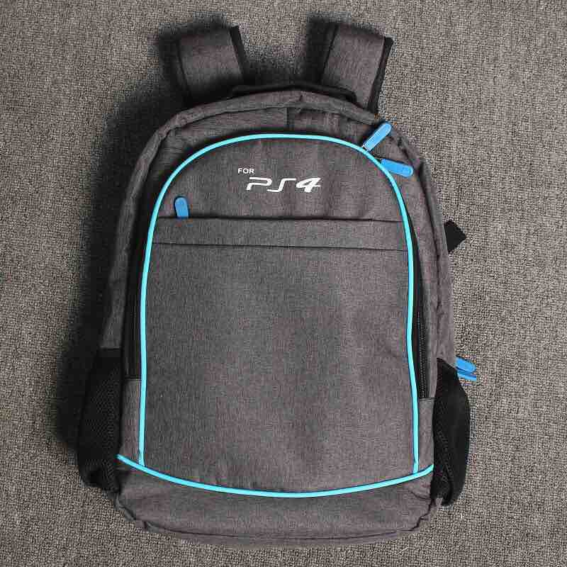 все цены на PS4 Slim PS4 Travel Backpack Storage Carrying Case Shoulder Bag For Playstation 4 Slim Console Controllers Accessories Organizer