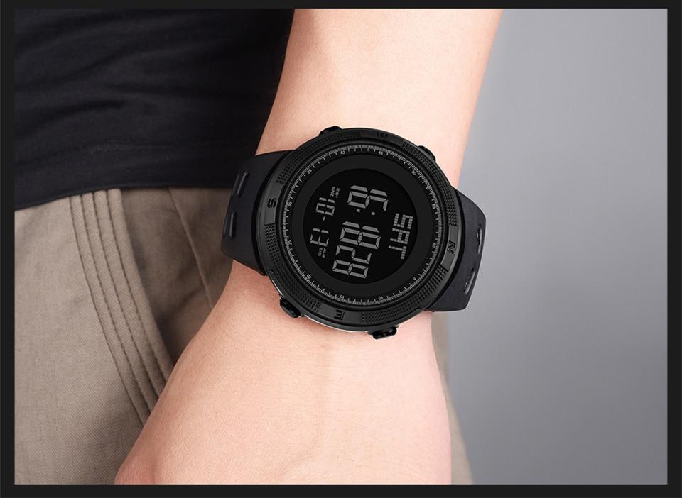 Sports Electronic Watches Men Countdown Double Time Watch Alarm Chrono Digital Wristwatches 50M Waterproof Outdoor Running Watch (19)