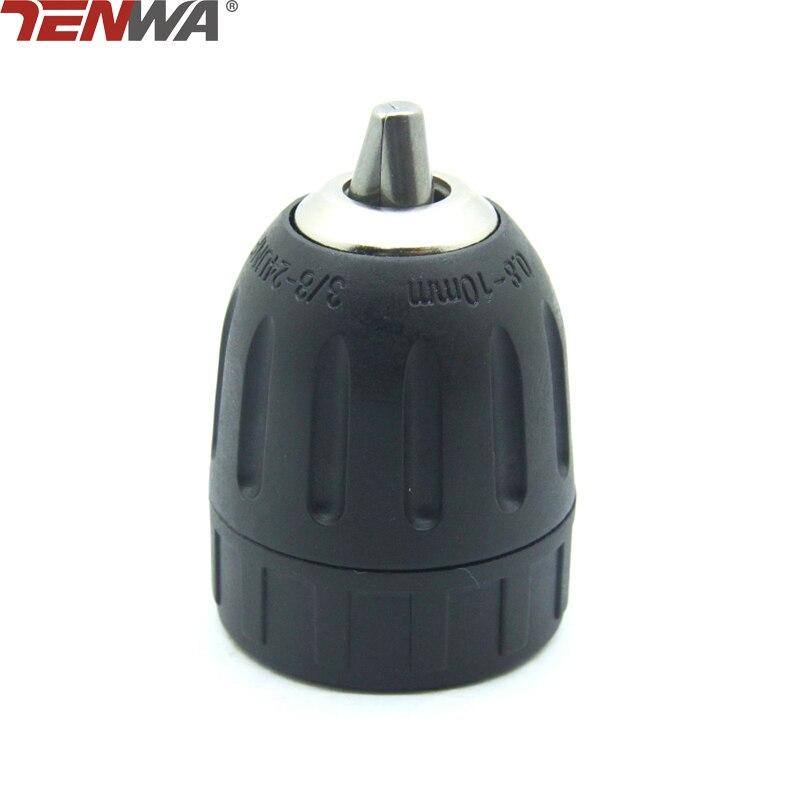 TENWA 1PC 10mm Sanou Keyless Drill Chuck 3/8